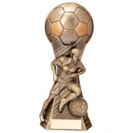 Trailblazer Girls Footbal Heavyweight Classic Gold Trophy 190mm : New 2020