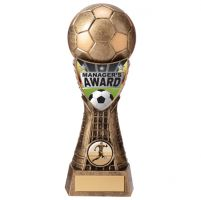 Valiant Football Managers Player Trophy Award Classic Gold 205mm : New 2020