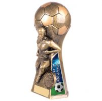 Trailblazer Girls Coach Player Trophy Award Classic Gold 160mm : New 2020