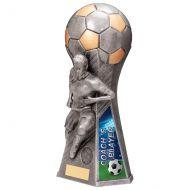 Trailblazer Girls Coach Player Trophy Award Antique Silver 265mm : New 2020