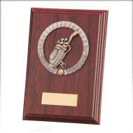 Galway Golf Plaque Mahogany 150mm