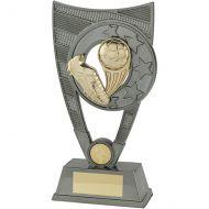 Nemesis Football Trophy Award Plastic Plaque Gunmetal and Gold 230mm