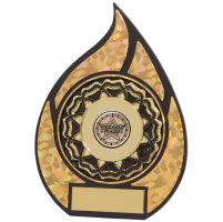 Inferno Multisport Plaque Black and Gold 150mm