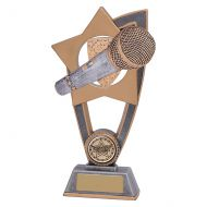 Star Blast Music Microphone Trophy Award 180mm : New 2019
