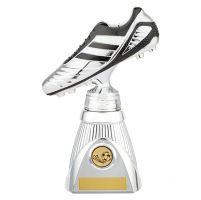 World Striker Deluxe Football Boot Trophy Award Silver and Black 230mm : New 2019