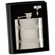 The Balefire Celtic Polished Steel Flask 115mm 6oz : New 2019