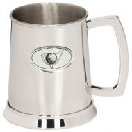 The Mulligan Golf Polished Steel Tankard 125mm 1pt