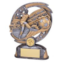 Sonic Boom Football Player Trophy Award 170mm : New 2019