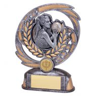 Sonic Boom Netball Trophy Award 170mm : New 2019