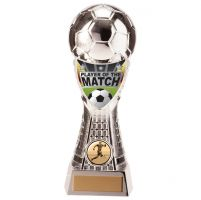 Valiant Football Player of Match Trophy Award Silver 205mm : New 2020