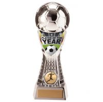 Valiant Football Player of Year Trophy Award Silver 205mm : New 2020