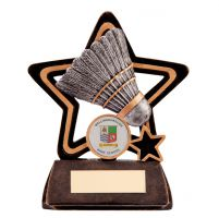 Little Star Badminton Plaque 105mm