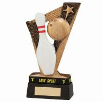 Victory Ten Pin Bowling Trophy Award and TB 155mm