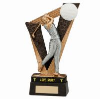 Victory Golfer Female Trophy Award and TB 180mm