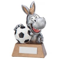 Football What A Donkey! Humorous Football Trophy Award 130mm