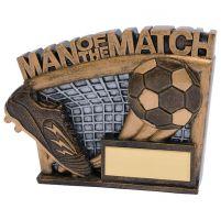Agility Football Trophy Award Man Of The Match 90mm
