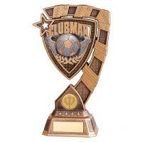 Euphoria Football Clubman Trophy Award 210mm : New 2019