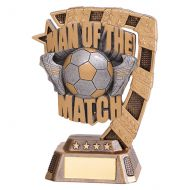 Euphoria Football Man of The Match Trophy Award 130mm : New 2019