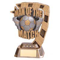 Euphoria Man of the Match Football Trophy Award 130mm : New 2019