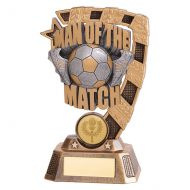 Euphoria Man of the Match Football Trophy Award 150mm : New 2019