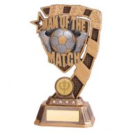 Euphoria Man of the Match Football Trophy Award 180mm : New 2019