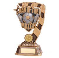 Euphoria Man of the Match Football Trophy Award 180mm : New 2019