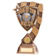 Euphoria Football Man of The Match Trophy Award 210mm : New 2019