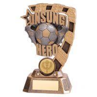 Euphoria Football Unsung Hero Trophy Award 150mm : New 2019