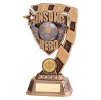 Euphoria Football Unsung Hero Trophy Award 180mm : New 2019