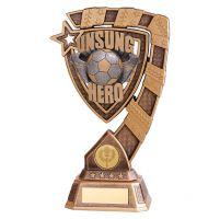 Euphoria Football Unsung Hero Trophy Award 210mm : New 2019