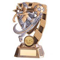 Euphoria Girls Football Trophy Award 150mm : New 2019