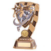 Euphoria Girls Football Trophy Award 180mm : New 2019