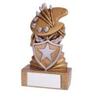 Shield Art Mini Trophy Award 95mm : New 2019
