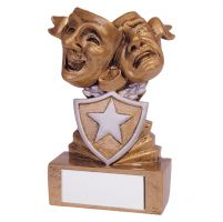 Shield Drama Mini Trophy Award 95mm : New 2019