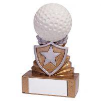 Shield Golf Mini Trophy Award 95mm : New 2019
