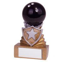 Shield Ten Pin Bowling Mini Trophy Award 95mm : New 2019