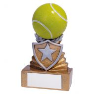Shield Tennis Mini Trophy Award 95mm : New 2019