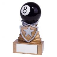 Shield Pool Mini Trophy Award 95mm : New 2019
