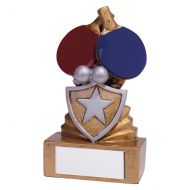 Shield Table Tennis Mini Trophy Award 95mm : New 2019