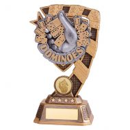 Euphoria Dominoes Trophy Award 180mm : New 2019