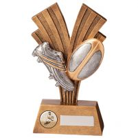 Xplode Rugby Boot and Ball Trophy Award 180mm : New 2020