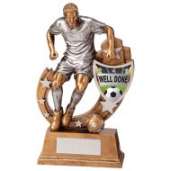Galaxy Football Well Done Trophy Award 165mm : New 2020