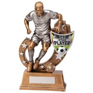 Galaxy Football Star Player Trophy Award 205mm : New 2020