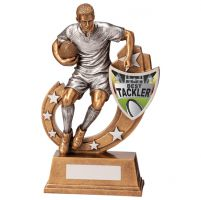 Galaxy Rugby Best Tackler Trophy Award 205mm : New 2020