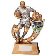 Galaxy Rugby Hardest Tryer Trophy Award 245mm : New 2020