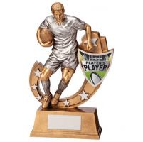 Galaxy Rugby Players Player Trophy Award 245mm : New 2020
