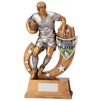 Galaxy Rugby Players Player Trophy Award 285mm : New 2020