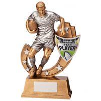 Galaxy Rugby Star Player Trophy Award 245mm : New 2020