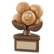 Kids Playful Flower Trophy Award 100mm