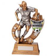 Galaxy Female Football Winner Trophy Award 205mm : New 2020